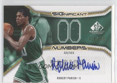 2006-07 SP Game Used Edition - Significant Numbers #SN-RP - Robert Parish /100