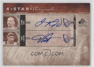 2006-07 SP Signature Edition - Star Autographs - Four [Autographed] #4SA-KCWB - Jason Kidd, Vince Carter, Marcus Williams, Josh Boone /15