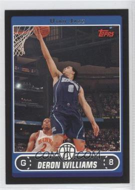 2006-07 Topps - [Base] - Black #28 - Deron Williams /99