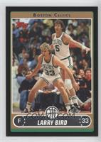 Larry Bird (White Jersey Defending with Bill Walton) /99