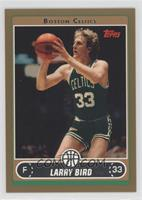 Larry Bird (Green Jersey Shooting Jumper with Ball by Face) /500