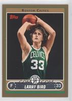 Larry Bird (Green Jersey Shooting with Ball by Hair) /500