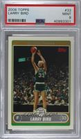 Larry Bird (Base, Green Jersey Shooting with Crowd) [PSA9MINT]