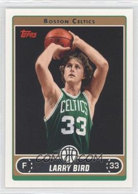 2006-07 Topps - [Base] #33.14 - Larry Bird (Green Jersey Shooting with Ball by Hair)