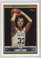 Larry Bird (White Jersey Shooting with Black Background)