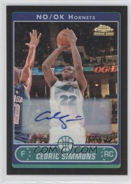 2006-07 Topps Chrome - [Base] - Black Refractor Autographs #197 - Cedric Simmons