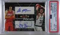 Adam Morrison, Larry Bird [PSA 8 NM‑MT]