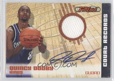 2006-07 Topps Full Court - Court Records - Relic Autograph #CR18 - Quincy Douby /50