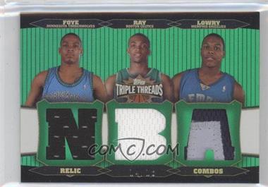 2006-07 Topps Triple Threads - Relic Combos - Emerald #TTRC-14 - Kyle Lowry, Randy Foye, Allan Ray /18