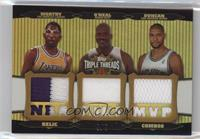 James Worthy, Shaquille O'Neal, Tim Duncan /9