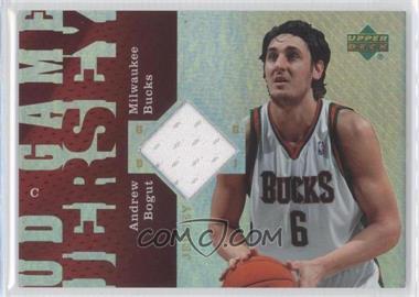 2006-07 UD Reserve - UD Game Jersey #UD-AB - Andrew Bogut