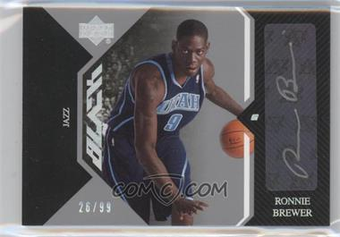 2006-07 Upper Deck Black - Auto Rookies #AR-RB - Ronnie Brewer /99