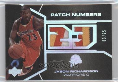 2006-07 Upper Deck Black - Patch Numbers #PN-JR - Jason Richardson /25