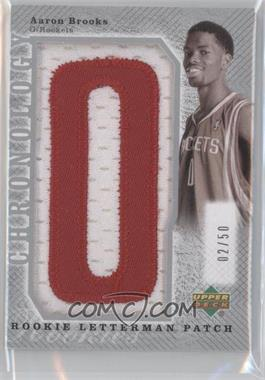2006-07 Upper Deck Chronology - Rookie Letterman Manufactured Patch - Silver #LMA-272 - Aaron Brooks /50