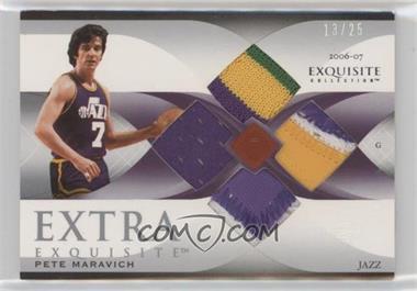 2006-07 Upper Deck Exquisite Collection - Extra Exquisite Memorabilia - Quad #EE-PM - Pete Maravich /25