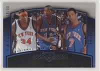 Eddy Curry, Jamal Crawford, Channing Frye #/33