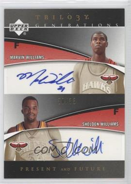 2006-07 Upper Deck Trilogy - Generations Present and Future Signatures - [Autographed] #PRFS-WW - Marvin Williams, Shelden Williams /33