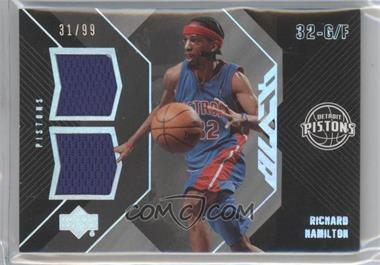 2006-07 Upper Deck UD Black - Dual Materials #DM-RH - Richard Hamilton /99