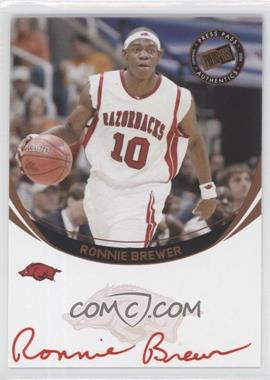 2006 Press Pass - Autographs - Bronze Red Ink #ROBR.2 - Ronnie Brewer (Red Ink)