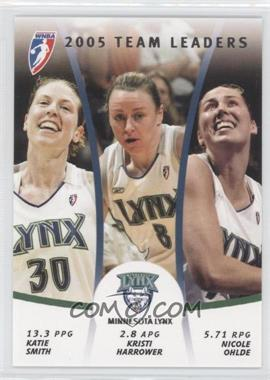 2006 Rittenhouse WNBA - 2005 Team Leaders #TL7 - Katie Smith, Kristi Harrower, Nicole Ohlde