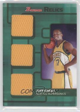 2007-08 Bowman Draft Picks & Stars - Relics - Triple Bronze #BR-JG - Jeff Green /50