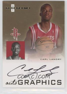 2007-08 Fleer Hot Prospects - Autographics #AU-CL - Carl Landry