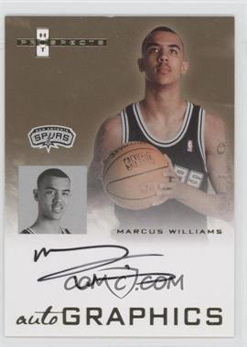 2007-08 Fleer Hot Prospects - Autographics #AU-MW - Marcus Williams