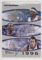 Allen Iverson, Kobe Bryant, Steve Nash #/1,996