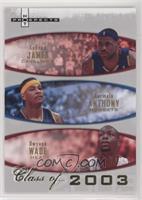 Lebron James, Carmelo Anthony, Dwyane Wade #/2,003
