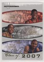 Greg Oden, Kevin Durant, Michael Conley #/2,007