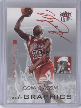 2007-08 Fleer Ultra - Autographics - Red Ink #AU-MJ - Michael Jordan