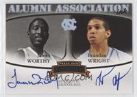 James Worthy, Brandan Wright