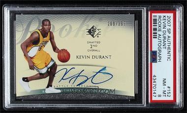 2007-08 SP - [Base] #152 - Kevin Durant /399 [PSA8NM‑MT]