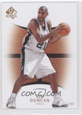2007-08 SP Authentic - [Base] #92 - Tim Duncan