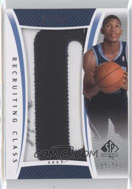 2007-08 SP Authentic - Recruiting Class Manufactured Patch Autographs - 2007 [Autographed] #RC-MA - Morris Almond /75