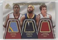Andre Miller, Jamaal Tinsley, Jason Williams /25