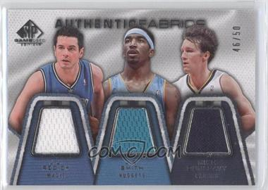 2007-08 SP Game Used - Authentic Fabrics Triple #AFT-RSD - J.J. Redick, J.R. Smith, Mike Dunleavy Sr. /50