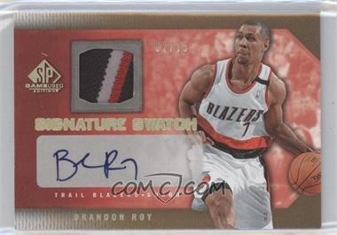 2007-08 SP Game Used - Signature Swatch - Patch [Autographed] #SS-BR - Brandon Roy /15