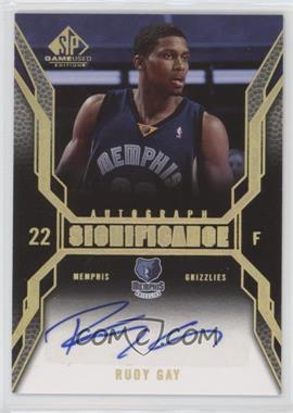 2007-08 SP Game Used - Significance Autographs - [Autographed] #SI-RG - Rudy Gay