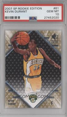 2007-08 SP Rookie Edition - [Base] #61 - Kevin Durant [PSA 10]