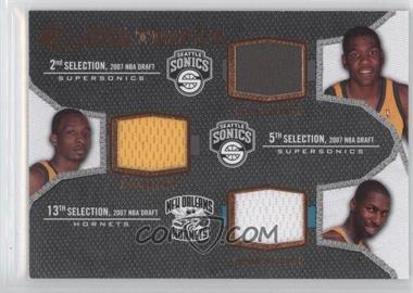 2007-08 SP Rookie Threads - Rookie Photo Shoot Materials - Triple #TRT-DGW - Kevin Durant, Jeff Green, Julian Wright