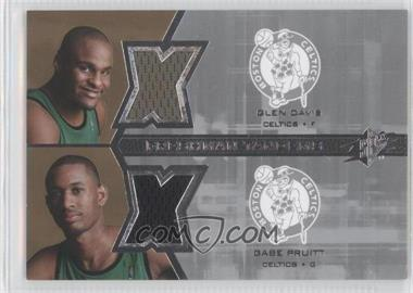 2007-08 SPx - Freshman Tandems Jerseys #F2-PD - Glen Davis, Gabe Pruitt