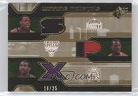 Marcus Camby, Ben Wallace, Metta World Peace, Marcus Camby #/25