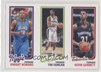 Dwight Howard, Tim Duncan, Kevin Garnett [Good to VG‑EX] #/99