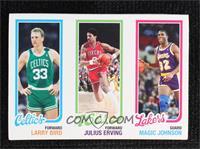 Larry Bird, Julius Erving, Magic Johnson #/99