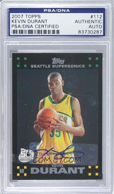 2007-08 Topps - [Base] #112 - Kevin Durant [PSA/DNA Certified Auto]