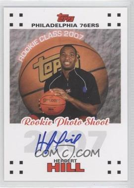 2007-08 Topps - Rookie Photos Shoot Certified Autographs - [Autographed] #RPA-HH - Herbert Hill