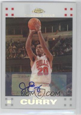 2007-08 Topps Chrome - [Base] - White Refractor Rookie Certified Autograph [Autographed] #141 - JamesOn Curry /10