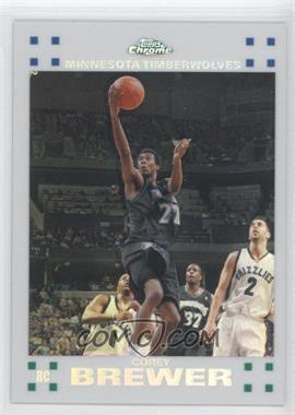 2007-08 Topps Chrome - [Base] - White Refractor #129 - Corey Brewer /99