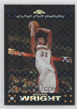 2007-08 Topps Chrome - [Base] - X-Fractor #158 - Brandan Wright /50